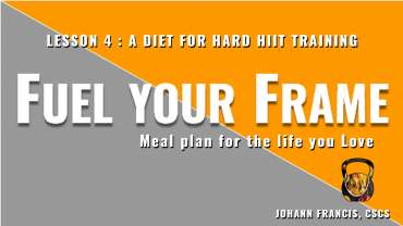 Meal planning for HiiT & technical Fitness | Free nutrition course Fuel your Frame #4