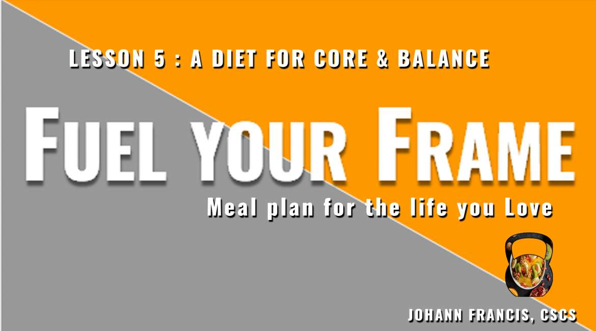 Meal planning for Core Workouts, Balance and Bodyweight | Free nutrition course Fuel your Frame #5