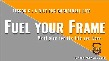 Meal planning for pick-up Basketball | Free nutrition course Fuel your Frame #6