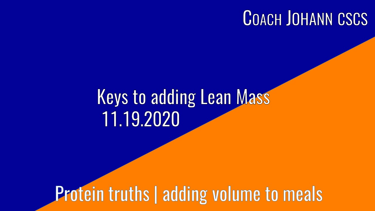 adding lean mass