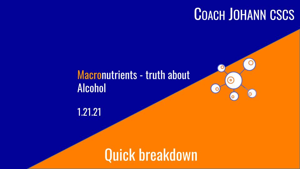 macro alcohol breakdown