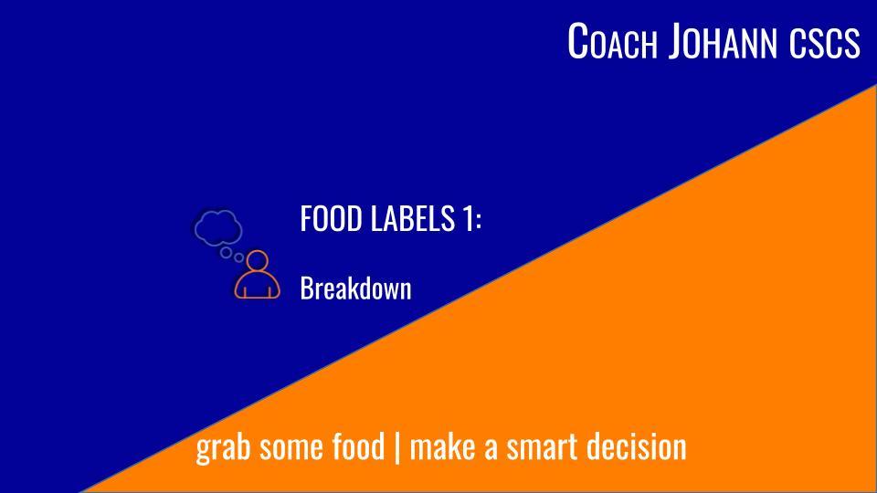food Label tutorial 1
